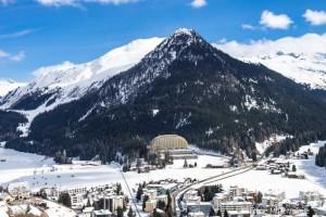 Das InterContinental Davos Hotel von weitem