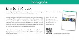 Hansgrohe Karte Nachhaltigkeitsbericht Seite 2