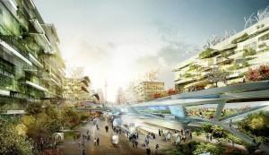 Illustration der Stadt von morgen am Beispiel Berlins Quelle: LAVA/Fraunhofer IAO