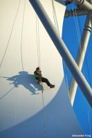 Turm Stahlbau Freikletterer Membrane