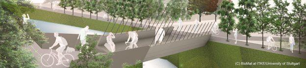 Bild zeigt eine Visualsierung der Smart Circular Bridge