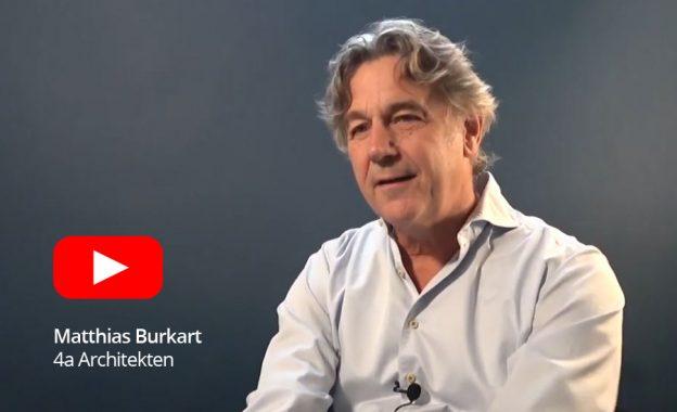 Architekt Matthias Burkhart vom Büro 4a im Videointerview.