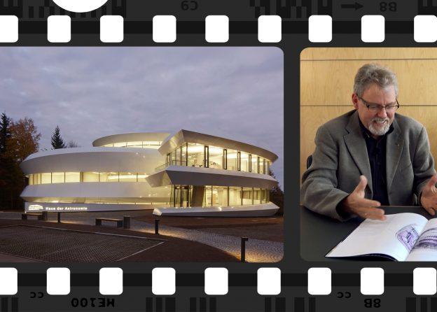 Fotostreifen und Teaser-Newsmeldung Haus der Astronomie in Heidelberg.
