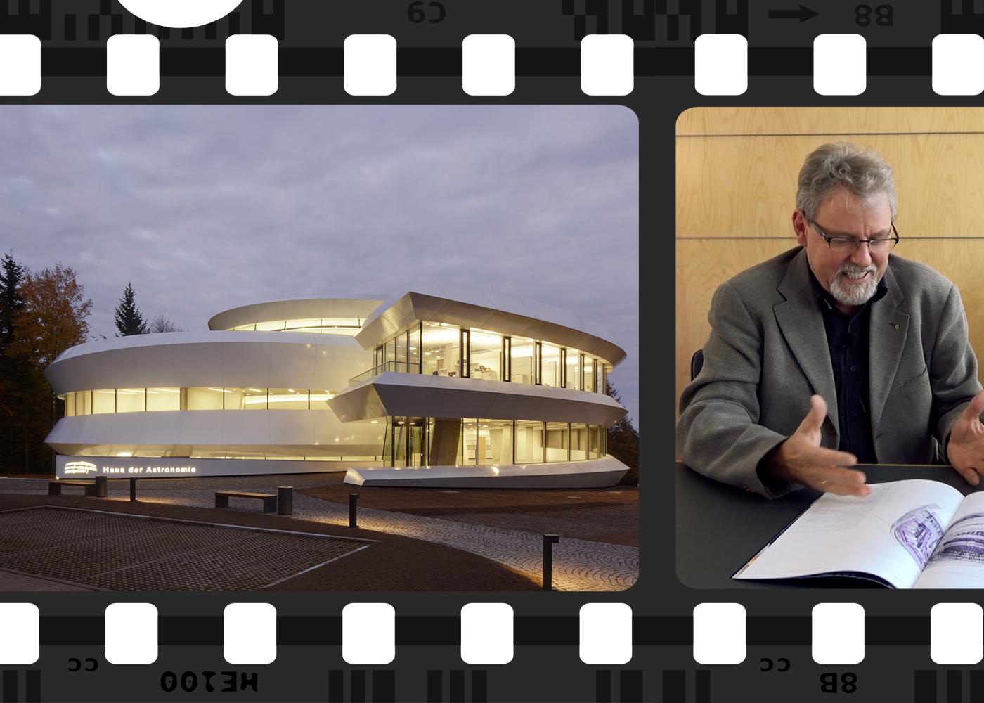 Manfred Bernhardt im Gespräch mit Martin Prösler über das Haus der Astronomie.