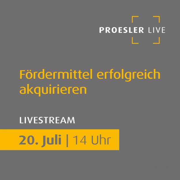 """Livestream-Event zum Thema """"Fördermittel erfolgreich akquirieren"""""""
